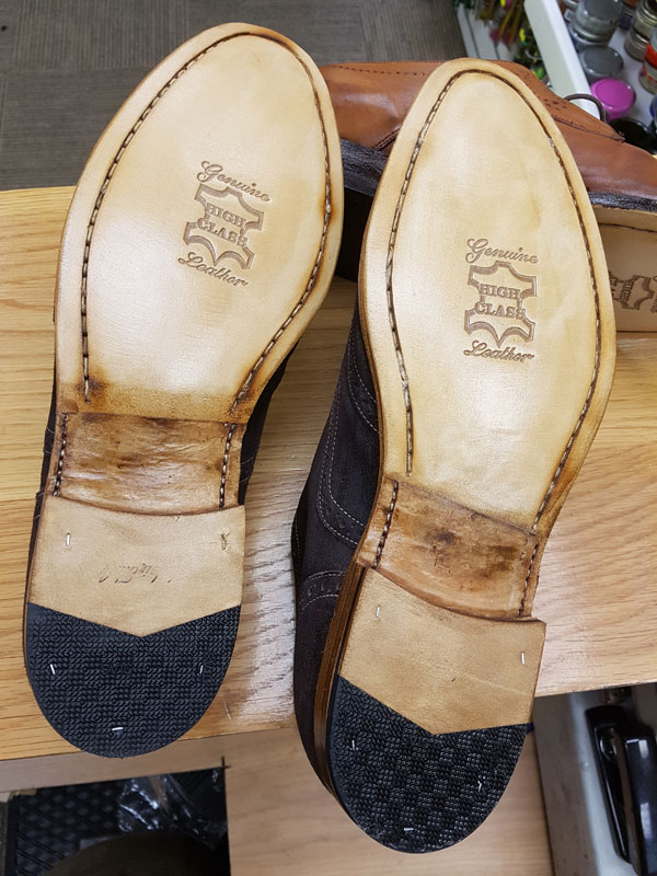 cae7b8ec1a13f Edmond's specialises in repairing leather or rubber soles and heels,  including repairs to stitched leather soles for both men's and women's shoes .